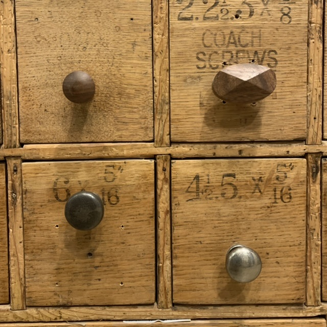 Providence cupboard knobs - Walnut Shaker & Pewter