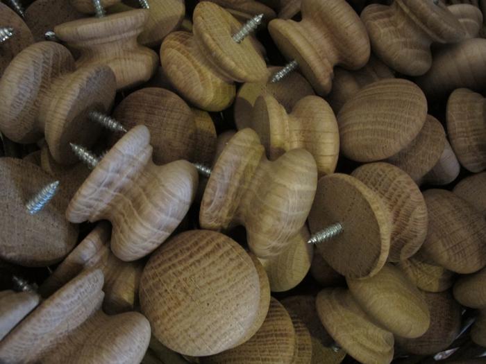Oak knobs Victorian style