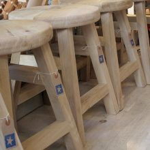 Chunky oak stool
