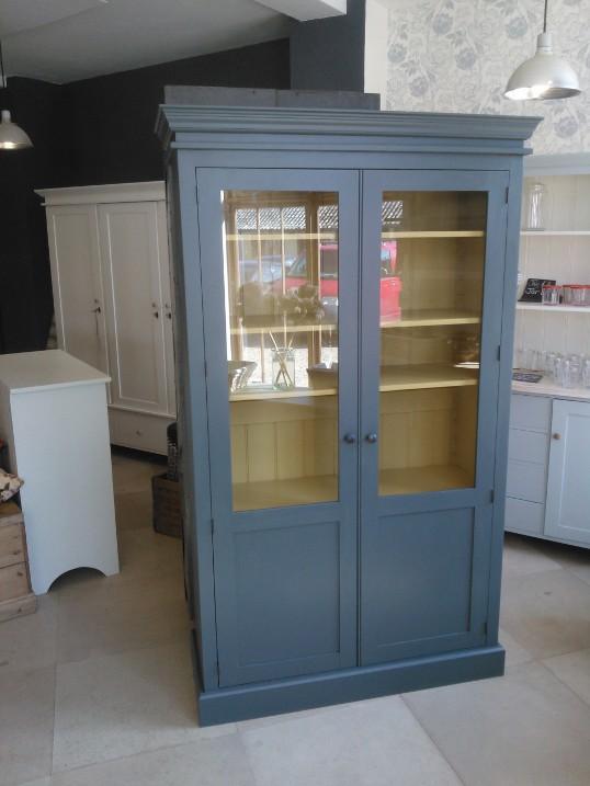 Larder cupboard, glazed